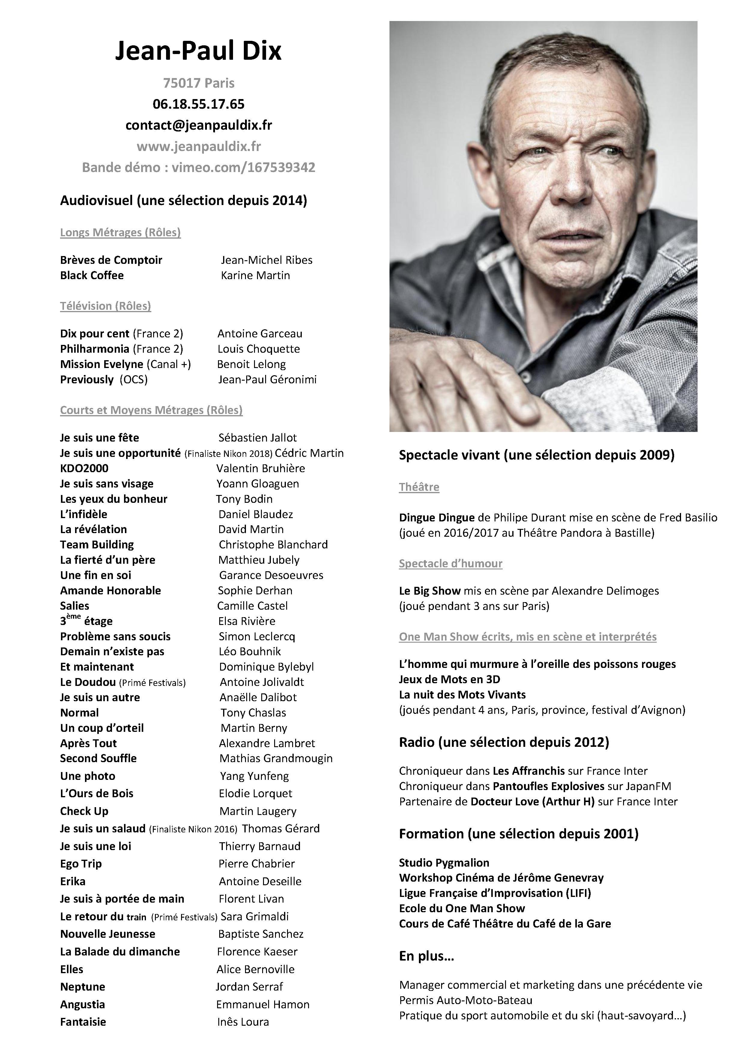 CV Jean-Paul Dix